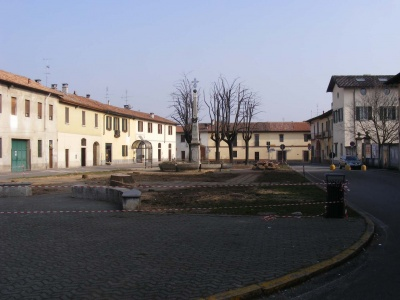 La piazza desolata di Albairate