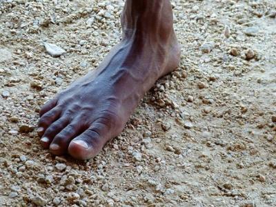 Piede di aborigeno australiano