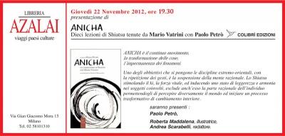 Anicha: conferenza di presentazione del libro di Paolo Petro'