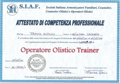 Attestazione SIAF: passaggio a livello trainer