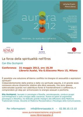 Conferenza: la forza della spiritualita' nell'Eros