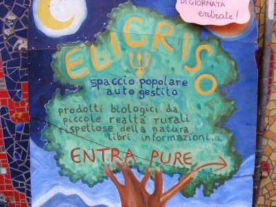L'Elicriso: spaccio popolare biologico autogestito