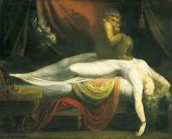 La paralisi nel sonno (o paralisi ipnagogica).