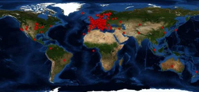 Mappa dei visitatori del sito al 5 ottobre 2012