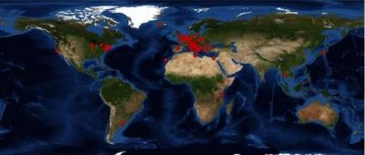 Mappa dei visitatori del sito