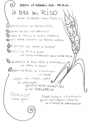 11 febbraio: cena alla Cascina Zelata
