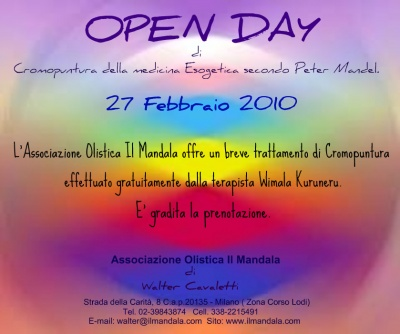 Open day di cromopuntura